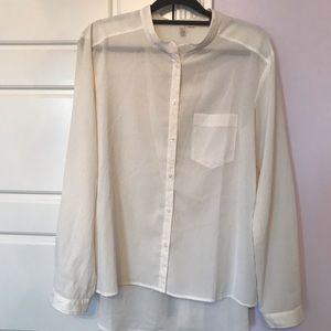 Sheer cream blouse